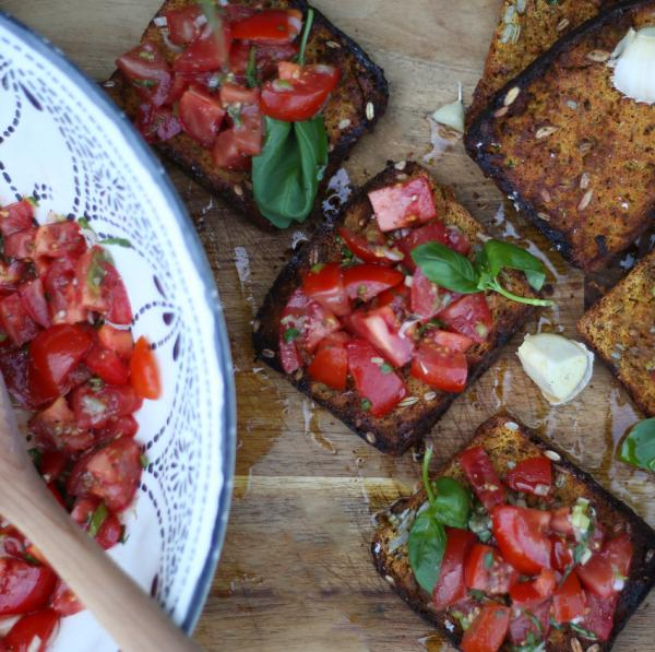 Vegbred Bruschetta