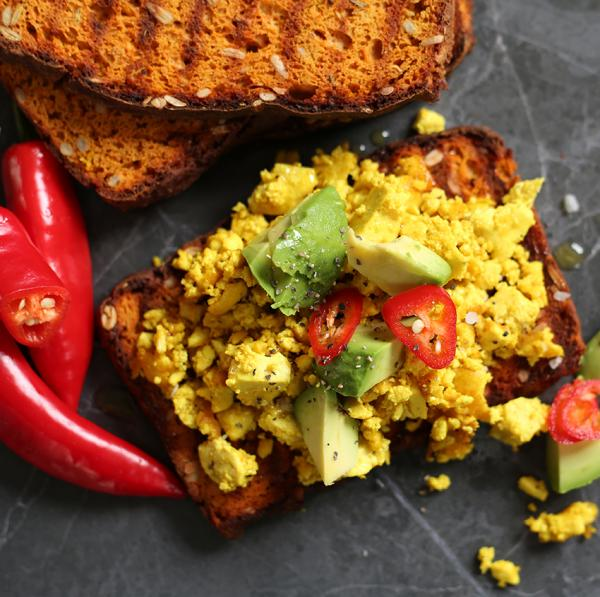 Tofu scramble on Vegbred Toast